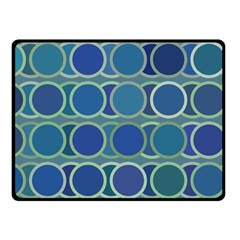 Circles Abstract Blue Pattern Fleece Blanket (Small)