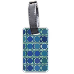 Circles Abstract Blue Pattern Luggage Tags (Two Sides)