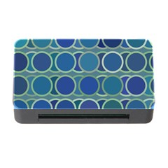 Circles Abstract Blue Pattern Memory Card Reader With Cf