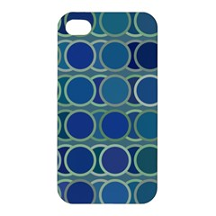 Circles Abstract Blue Pattern Apple iPhone 4/4S Hardshell Case