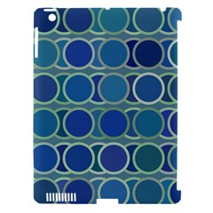 Circles Abstract Blue Pattern Apple Ipad 3/4 Hardshell Case (compatible With Smart Cover)