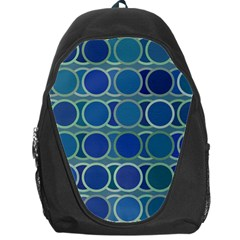 Circles Abstract Blue Pattern Backpack Bag