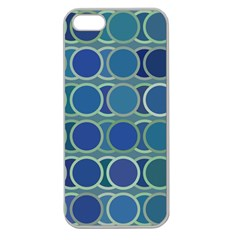 Circles Abstract Blue Pattern Apple Seamless iPhone 5 Case (Clear)