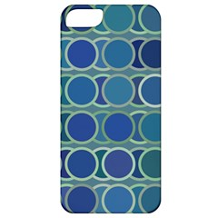 Circles Abstract Blue Pattern Apple iPhone 5 Classic Hardshell Case