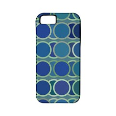 Circles Abstract Blue Pattern Apple Iphone 5 Classic Hardshell Case (pc+silicone)