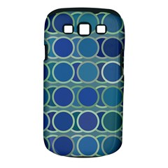 Circles Abstract Blue Pattern Samsung Galaxy S III Classic Hardshell Case (PC+Silicone)