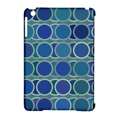 Circles Abstract Blue Pattern Apple iPad Mini Hardshell Case (Compatible with Smart Cover)