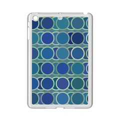 Circles Abstract Blue Pattern iPad Mini 2 Enamel Coated Cases