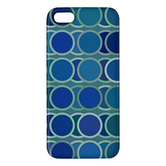 Circles Abstract Blue Pattern Apple iPhone 5 Premium Hardshell Case