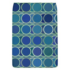 Circles Abstract Blue Pattern Flap Covers (L)