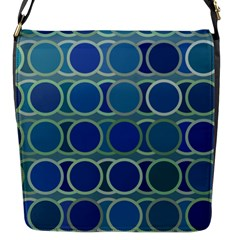 Circles Abstract Blue Pattern Flap Messenger Bag (s)