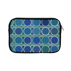 Circles Abstract Blue Pattern Apple Ipad Mini Zipper Cases