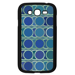 Circles Abstract Blue Pattern Samsung Galaxy Grand Duos I9082 Case (black)