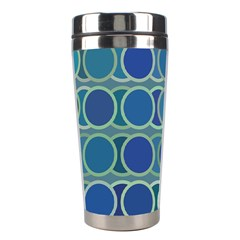 Circles Abstract Blue Pattern Stainless Steel Travel Tumblers