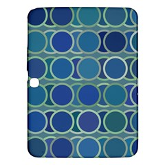 Circles Abstract Blue Pattern Samsung Galaxy Tab 3 (10 1 ) P5200 Hardshell Case