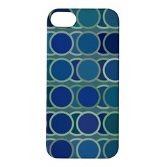 Circles Abstract Blue Pattern Apple Iphone 5s/ Se Hardshell Case