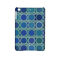 Circles Abstract Blue Pattern iPad Mini 2 Hardshell Cases