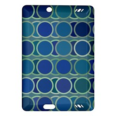 Circles Abstract Blue Pattern Amazon Kindle Fire Hd (2013) Hardshell Case