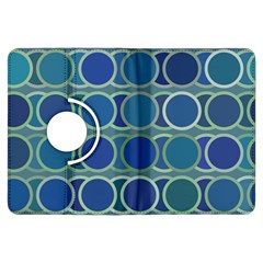 Circles Abstract Blue Pattern Kindle Fire Hdx Flip 360 Case