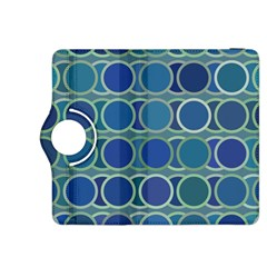 Circles Abstract Blue Pattern Kindle Fire Hdx 8 9  Flip 360 Case