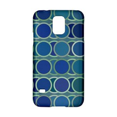 Circles Abstract Blue Pattern Samsung Galaxy S5 Hardshell Case