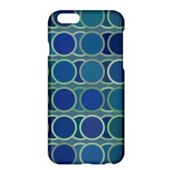 Circles Abstract Blue Pattern Apple Iphone 6 Plus/6s Plus Hardshell Case