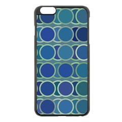 Circles Abstract Blue Pattern Apple iPhone 6 Plus/6S Plus Black Enamel Case