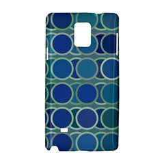 Circles Abstract Blue Pattern Samsung Galaxy Note 4 Hardshell Case