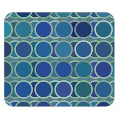 Circles Abstract Blue Pattern Double Sided Flano Blanket (Small)