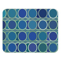 Circles Abstract Blue Pattern Double Sided Flano Blanket (large)