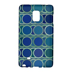 Circles Abstract Blue Pattern Galaxy Note Edge