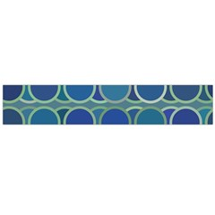 Circles Abstract Blue Pattern Flano Scarf (Large)