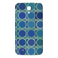 Circles Abstract Blue Pattern Samsung Galaxy Mega I9200 Hardshell Back Case