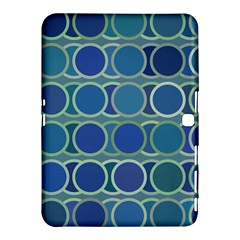 Circles Abstract Blue Pattern Samsung Galaxy Tab 4 (10.1 ) Hardshell Case