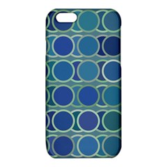 Circles Abstract Blue Pattern iPhone 6/6S TPU Case