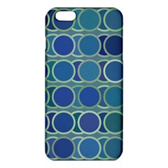 Circles Abstract Blue Pattern Iphone 6 Plus/6s Plus Tpu Case