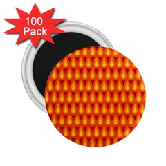 Simple Minimal Flame Background 2.25  Magnets (100 pack)
