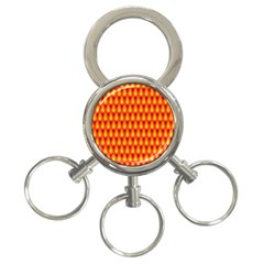 Simple Minimal Flame Background 3 Ring Key Chains