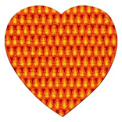 Simple Minimal Flame Background Jigsaw Puzzle (heart)