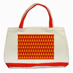 Simple Minimal Flame Background Classic Tote Bag (Red)