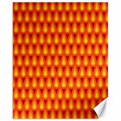 Simple Minimal Flame Background Canvas 16  x 20