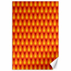 Simple Minimal Flame Background Canvas 20  X 30