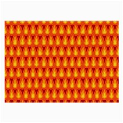Simple Minimal Flame Background Large Glasses Cloth (2 Side)
