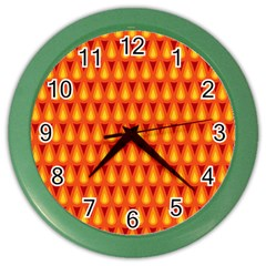 Simple Minimal Flame Background Color Wall Clocks
