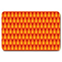 Simple Minimal Flame Background Large Doormat