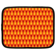 Simple Minimal Flame Background Netbook Case (large)