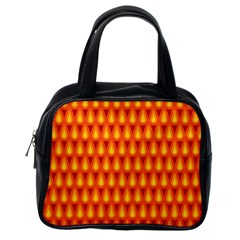Simple Minimal Flame Background Classic Handbags (One Side)