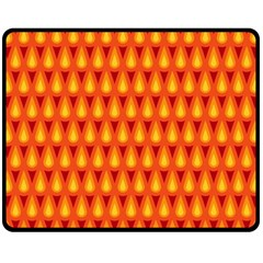 Simple Minimal Flame Background Fleece Blanket (medium)