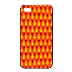 Simple Minimal Flame Background Apple iPhone 4/4s Seamless Case (Black)
