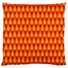 Simple Minimal Flame Background Large Cushion Case (Two Sides)